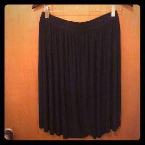 Navy Blue pleated skirt
